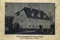 Rittergut Großbaselitz bei Kamenz/Sachsen