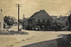 alte Dorfbrücke an Schmiede und Gasthof vor Umbau